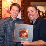 J. Kirk Richards and Will Terry posing with Kirk's new book.