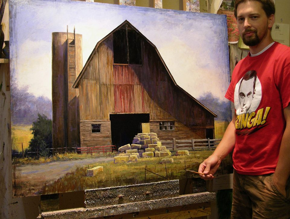 "Just finishing up this piece. This image also comes from my ""Bones of America"" series. This barn comes from an area north of Logan Utah near the Idaho border. A great structure with slight remnants of it's original red color streaking down the front."