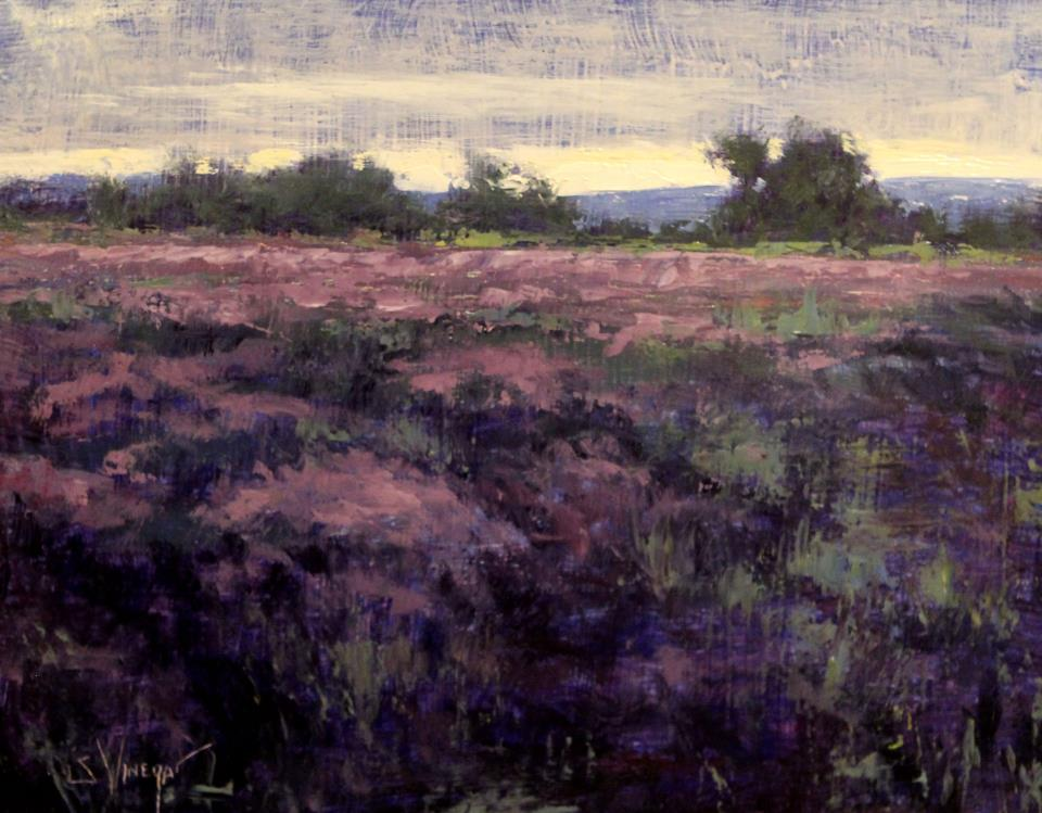 Lavender Fields 8x10 Oil by Artist, Simon Winegar