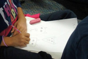 School Visit in Katy TX Child Drawing