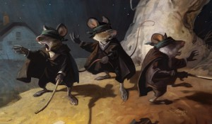 0003 Jim M. 3 blind mice. A new take on an old favorite painting from NC Wyeth called the Blind Pew.