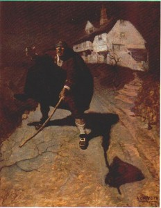 NC Wyeth's illustration, the Blind Pew
