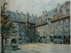 Courtyard_of_the_Old_Residency_in_Munich_by_Adolf_Hitler
