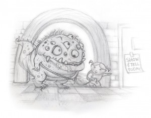 monster for show and tell sketch
