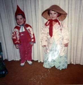 young Will Terry, the Artist to be, and his elder sister