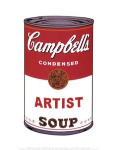 A can of Artist Soup
