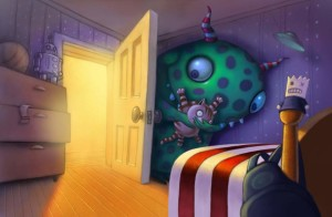 bedroom with monster without child for app